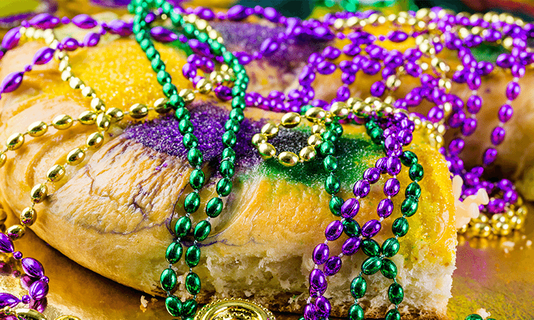 New Orleans Mardi Gras Food and Drink