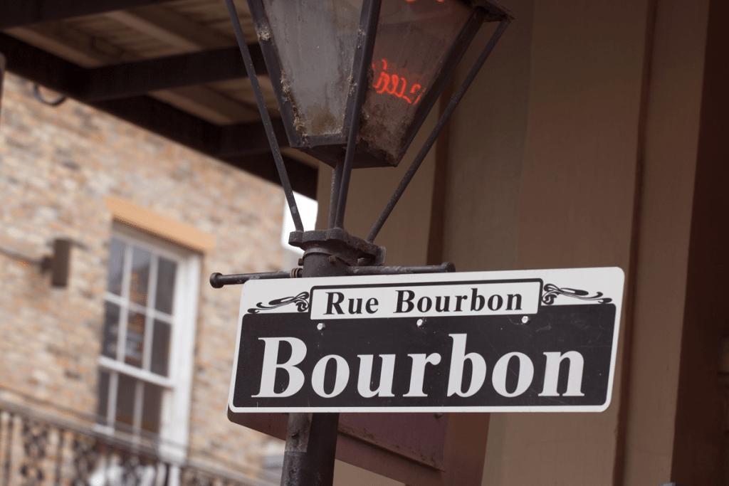Bourbon Street New Orleans street sign