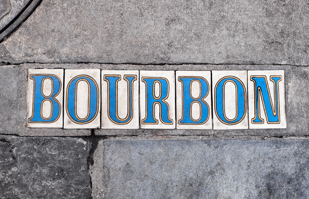 Bourbon street the complete block by block guide bourbon street in new orleans bourbon street street name tiles reheart Choice Image