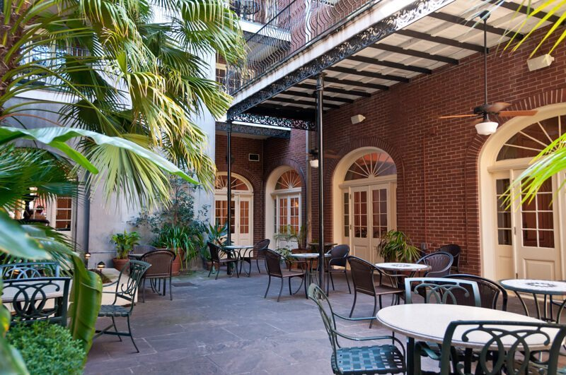 french quarter courtyards